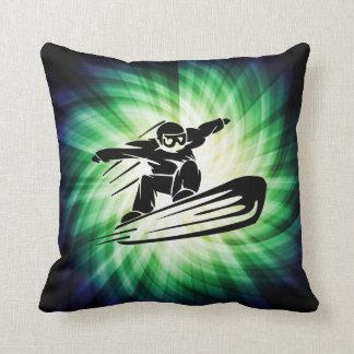 Xtreme Snowboarding Throw Pillow