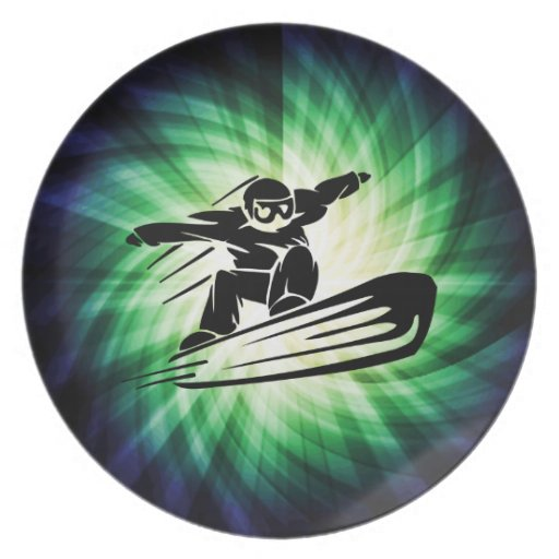 Xtreme Snowboarding Party Plate