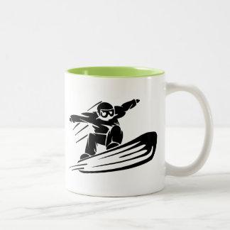 Xtreme Snowboarding Two-Tone Mug