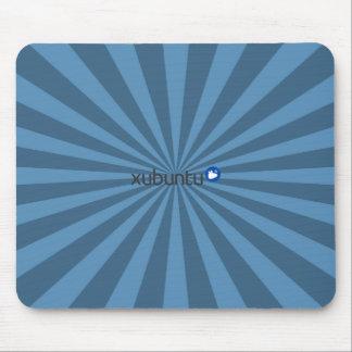 Xubuntu Linux Blue StarBurst Mouse Pad
