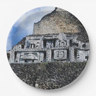 Xunantunich Mayan Ruin in Belize 9 Inch Paper Plate