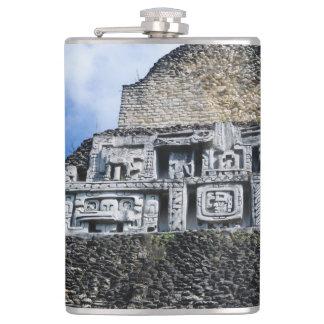 Xunantunich Mayan Ruin in Belize Flask