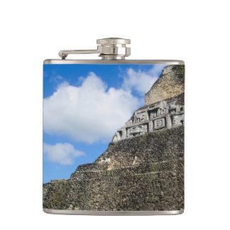 Xunantunich Mayan Ruin in Belize Hip Flask