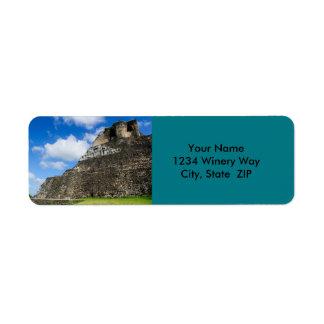 Xunantunich Mayan Ruin in Belize Return Address Label