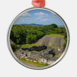 Xunantunich Mayan Ruin in Belize Silver-Colored Round Decoration