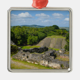 Xunantunich Mayan Ruin in Belize Silver-Colored Square Decoration