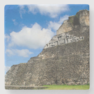 Xunantunich Mayan Ruin in Belize Stone Beverage Coaster