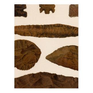 XVI Stone implements, New Mexico Postcard