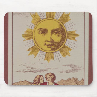 XVIIII Le Soleil, French tarot card of the Sun Mouse Pad