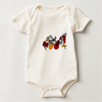 XX- Abstract Art Animals and Music Baby Bodysuit
