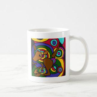 XX- Abstract Art Kangaroo Basic White Mug