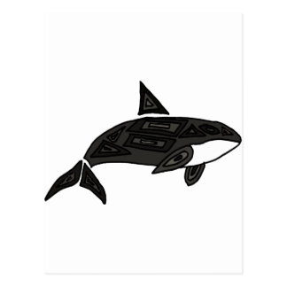 XX- Artistic Killer Whale Postcard