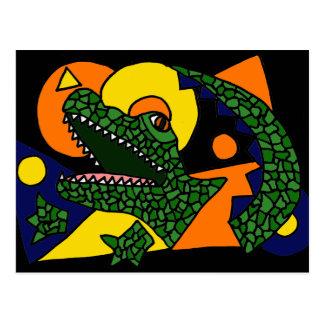 XX- Awesome Alligator Art Postcards