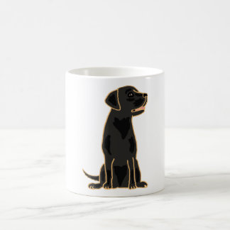 XX- Awesome Black Labrador Retriever Design Coffee Mug