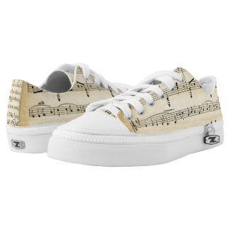 xx backwords Antique Sheet Music Printed Shoes