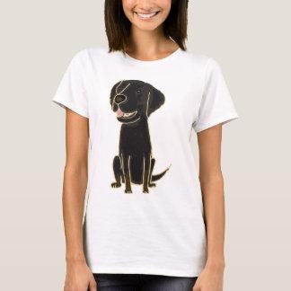 XX- Black Retriever Puppy Dog T-Shirt