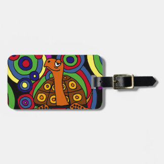XX- Box Turtle Abstract Art Design Luggage Tag
