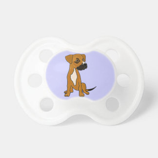 XX- Boxer Mix Rescue Dog Puppy Cartoon Baby Pacifier