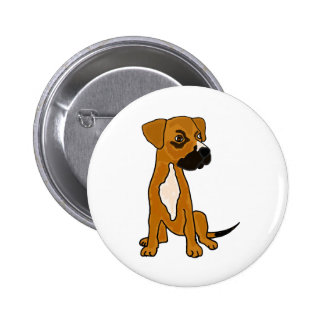 XX- Boxer Mix Rescue Dog Puppy Cartoon Pinback Buttons