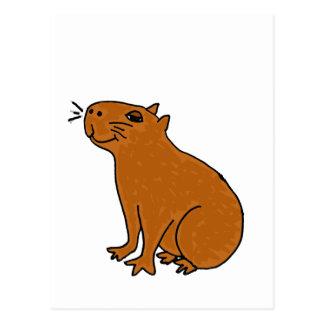 XX- Capybara Art Postcard