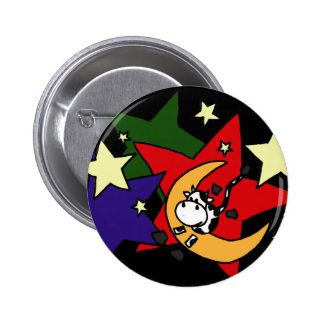 XX- Cow Jumping Over the Moon with Stars Pin