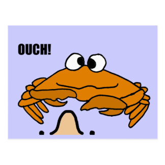 XX- Crab Honking Nose Cartoon Postcard