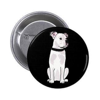 XX- Cute American Bulldog with Studded Collar 6 Cm Round Badge