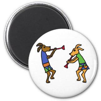 XX- Dancing Dogs Cartoon Magnet