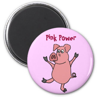 XX- Dancing Pink Pig Cartoon Fridge Magnets