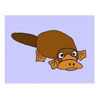 XX- Duck Billed Platypus Cartoon Postcard