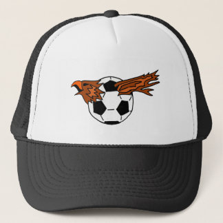XX- Eagle Soraing from Soccer Ball Cartoon Trucker Hat
