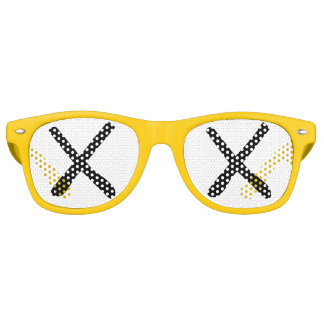 """XX Eyes - """"Crossed Out Eyes"""" Sunglasses Yellow"""