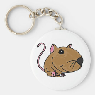 XX- Funky Mouse Basic Round Button Key Ring