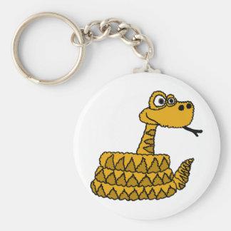 XX- Funky Rattlesnake Cartoon Key Ring