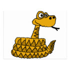 XX- Funky Rattlesnake Cartoon Postcard