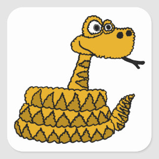 XX- Funky Rattlesnake Cartoon Square Sticker