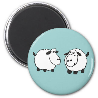 XX- Funky Sheep 6 Cm Round Magnet