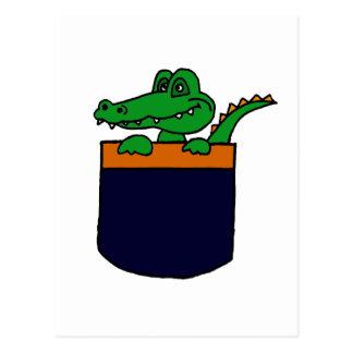 XX- Funny Alligator in a Pocket Post Card
