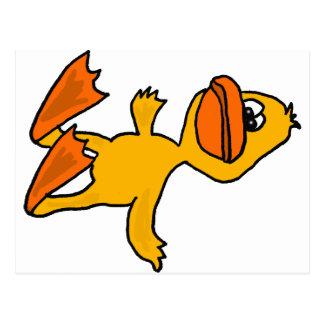 XX- Funny Dead Duck Cartoon Postcard