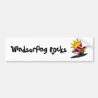 XX- Funny Duck Windsurfing Cartoon Bumper Sticker