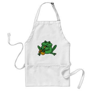 XX- Funny Frog Playing Saxophone Standard Apron
