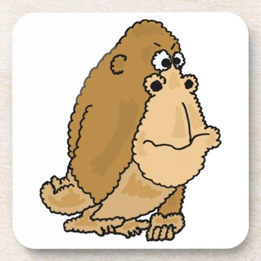XX- Funny Gorilla Cartoon Drink Coasters
