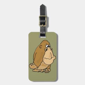 XX- Funny Gorilla Cartoon Tag For Bags