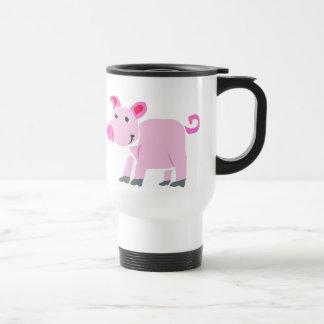 XX- Funny Pig Primitive Art Cartoon Stainless Steel Travel Mug