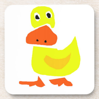 XX- Funny Primitive Art Duck Beverage Coaster