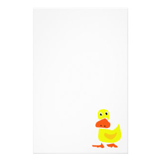 XX- Funny Primitive Art Duck Stationery