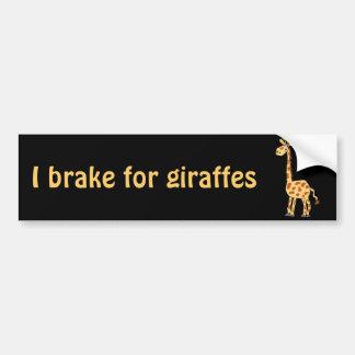 XX- Funny Primitive Art Giraffe Bumper Sticker