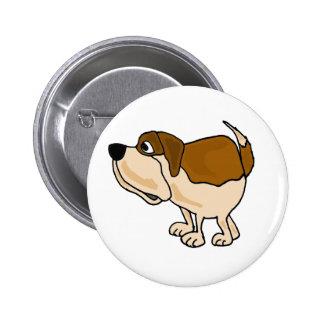 XX- Funny St Bernard Dog Cartoon Pinback Buttons