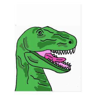 XX- Funny T-Rex Dinosaur Cartoon Postcard