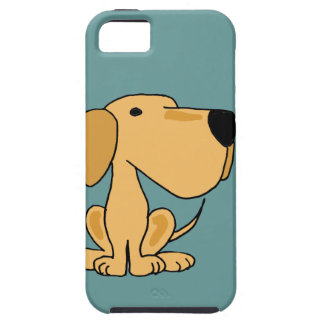 XX- Funny Yellow Labrador Dog Art Tough iPhone 5 Case